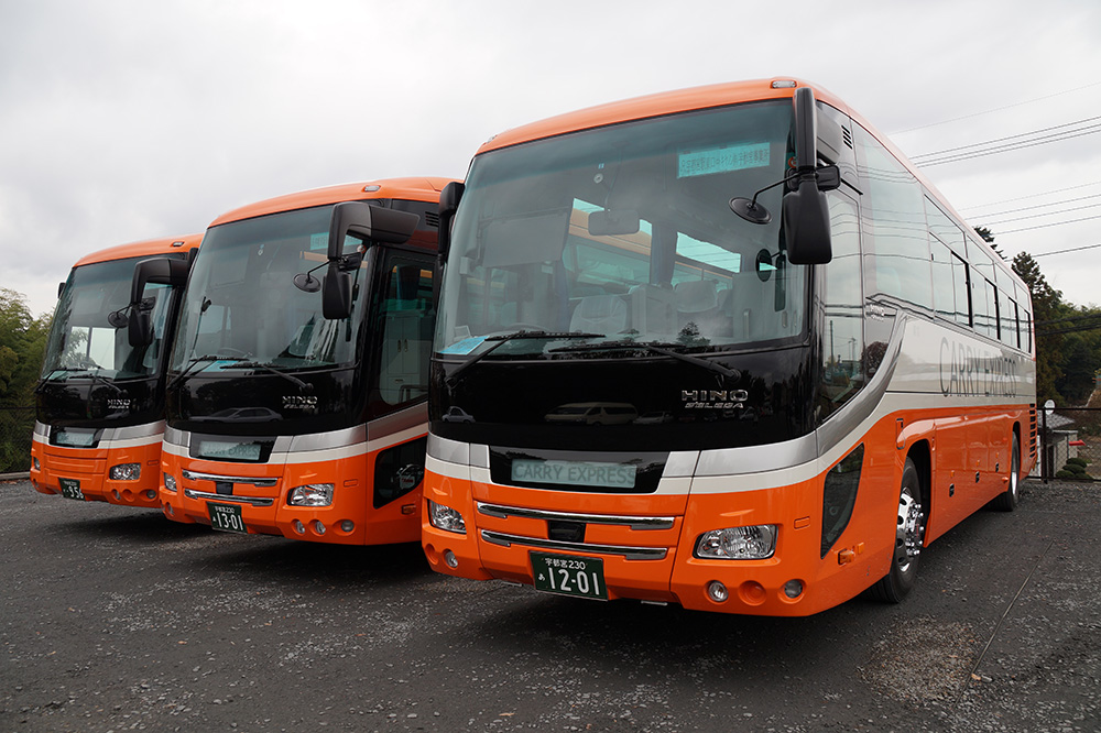 貸切バス3台